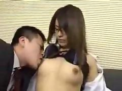 Asian Secretary Get A Cock In Her Hairy Japanese Vagina