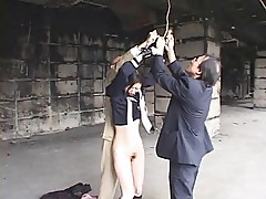Japanese bondage and have her pussy shaved (censored)