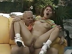 Pigtailed whore China Doll pumping her tight ass on huge thick cock
