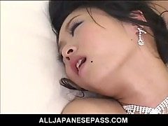 Kinky Japanese bride is the gift of both her husband and his groomsmen