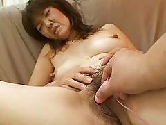 Kimie Kuwata Horny Japanese Granny Doggy Fucked