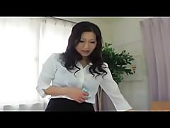 Japanese girl femdom handjob
