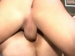 Shorthaired skinny german Milf fucked on a table