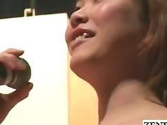 Subtitled nudist Japan instrumentalists thank audience