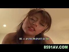 Mosaic: cute jap busty girl facial cumshot fuck