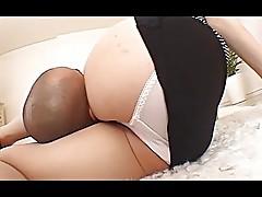 Censored asian panty facesitting upskirt thighjob movie