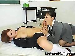 Sucking a Futanari Coed!