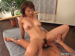 Big tits babe Miri Sugihara riding cock!