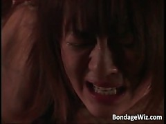 Hot Asian lady getting punished
