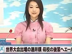News reporter fucks - Azumi Mizushima