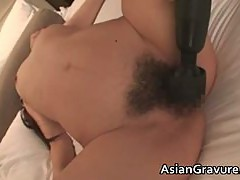 Beautiful brunette asian babe gets