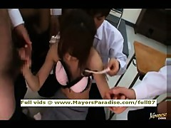 Akiho Yoshizawa smart Asian teacher does blowjob