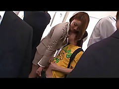 Japanese Teacher Reverse Train Molester