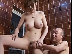 Old man & Pretty Girl - Sexy Japanese RIO