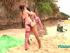 Busty Asian Bikini Girl fucked on the beach