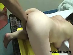 Double anal fist and cock fucking destruction