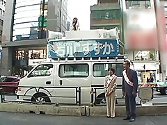 Those crazy japs, reporter fucked on top of van