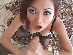 Smoking hot asian gives one hell of blowjob