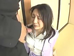 Japanese Cumslut Office Lady Mouthful of Cum