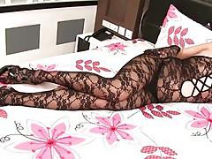 Ladyboy Lisha Bodysuit Wanking