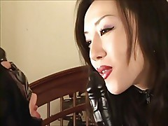 Asian Domme with strapon