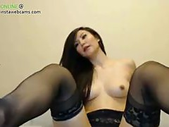 Nude asian babe stripping part 1