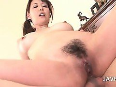 Asian 3some with oral sex and hardcore ass fucking