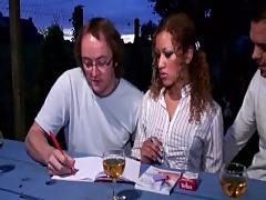 Alycia (Alicia) Lopez smokes then fucks - French metisse sexe en trio