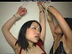 Two Japanese lesbians in latex