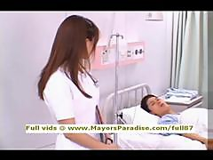 Akiho Yoshizawa innocent naughty Chinese nurse likes to do blowjob