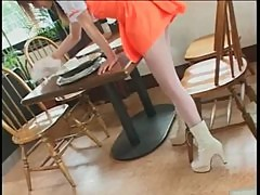Japanese chicks show ass upskirt