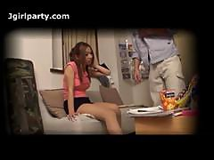 Japanese Girlfriend Caught Cheating Voyeur Cam