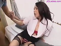 Office Lady Giving Blowjob Fucked Hard Cum To Pussy On The Mattress In The Sitting Room