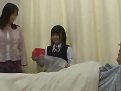 Asian schoolgirl visits male friend in hospital