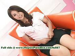 Aya Hirai innocent asian girl has a cute wet pussy