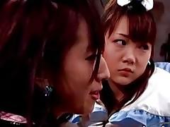 2 asian girls in superhero dresses licking pussies in 69 rub