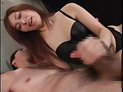 Japan mistress handjob