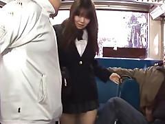 Japanese Schoolgirl Yayoi Yoshino fucked in bus uncesnored