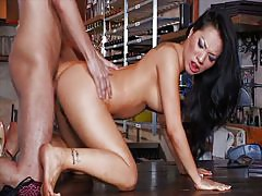 Asa Akira at the bar