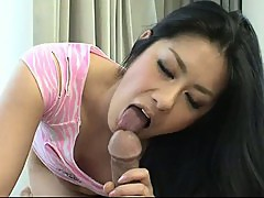 Raunchy Japanese maiden Ishiguro\'s furry muff toyed then filled with hard dick