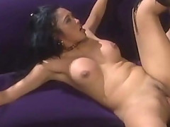 Horny asian babe gets pussy licked