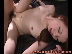Oriental babe amateur moist clit slammed