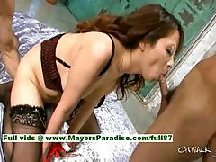 Asuka hot girl lovely Chinese model enjoys getting hard fucking