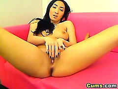 Asian Babe Enjoys her 10 Inch Dildo HD