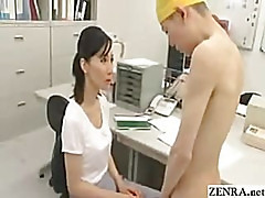 CFNM example of nudist student being scolded by teacher for jerking off in class