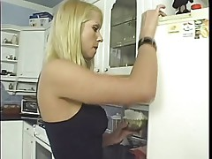 Horny female coeds lick whip cream of each other\'s tits