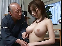 Sexy girl sex with old man