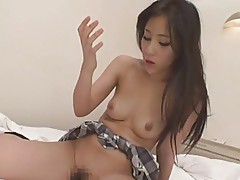 Japanese schoolgirl gets gangbanged