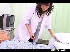 AzHotPorn.com - Lewd Asian Hospital Offers Deepthroat Suck 2