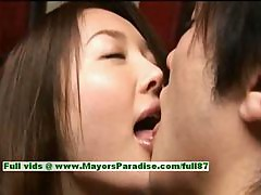 Mai Uzuki innocent cute asian chick enjoys sucking her boyfriends dick